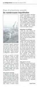 25 janvier 2013 annulation du PLU